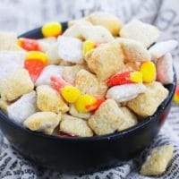 Easy Candy Corn Puppy Chow Recipe