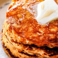 Sweet Potato Oatmeal Coconut Pancakes