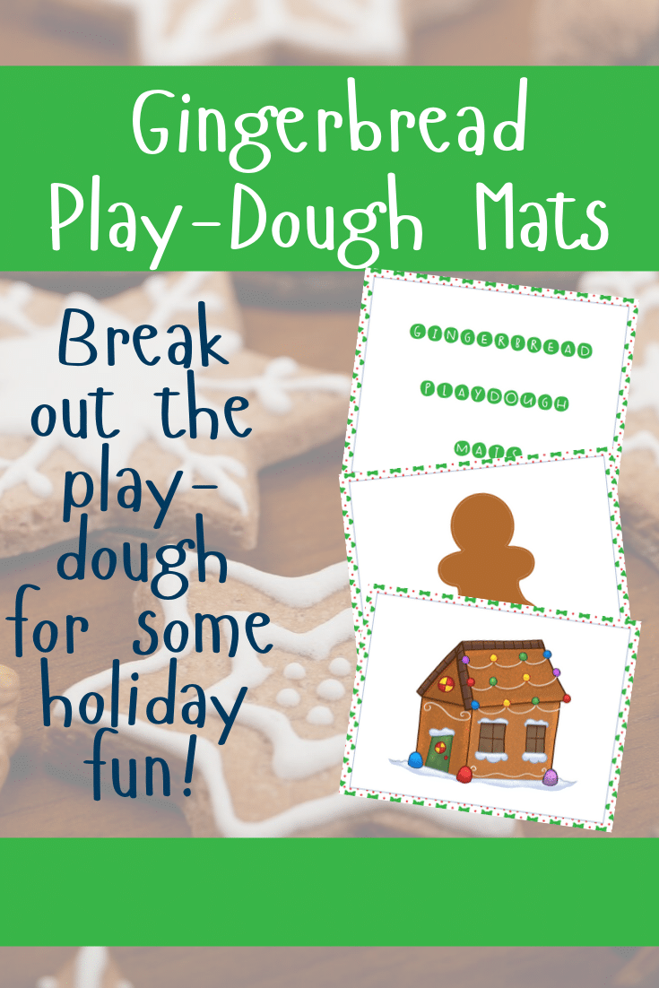Preview images of printable gingerbread themed sheets with text overlay.
