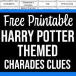 Preview image of Harry Potter charades list with text overlay.