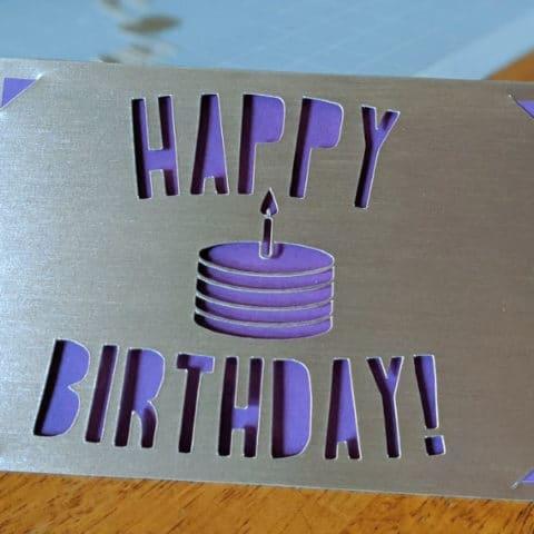 Cricut Cut Out Birthday Card