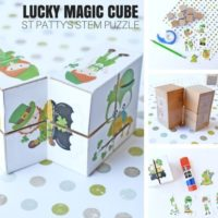 St Patricks Day Magic Cube Puzzle and STEM Activity (Free Printable)