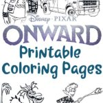 Collage of coloring pages with text overlay