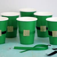 DIY Leprechaun Belt Cups