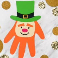 Easy Leprechaun Handprint Craft