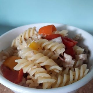 Easy Italian Chicken Summer Pasta Salad (DF, GF)