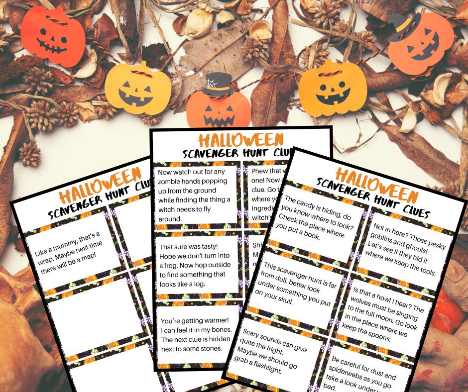 Printable Halloween Scavenger Hunt Clues