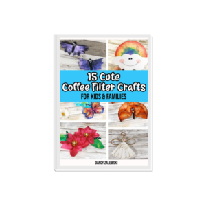 Mock book cover for Cute Coffee Filter Crafts ebook.