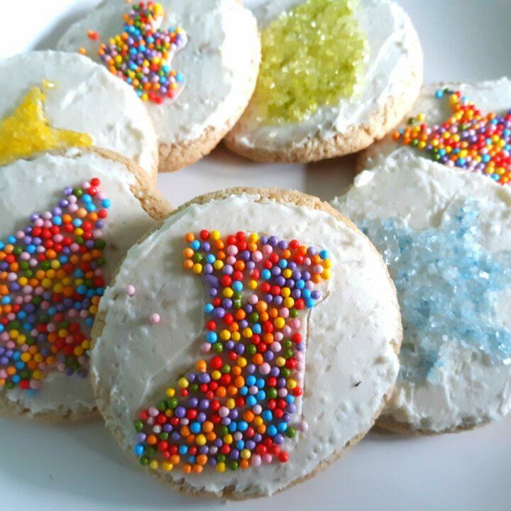 Sprinkle Christmas Sugar Cookies