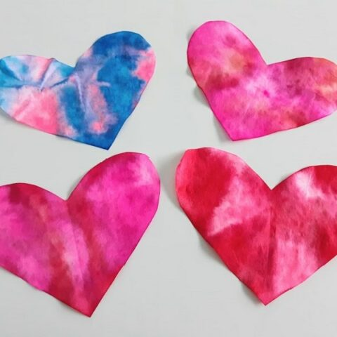 Coffee Filter Hearts Craft
