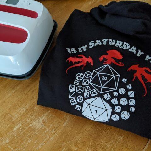 Dragons & Dice Custom Hoodies Cricut Project