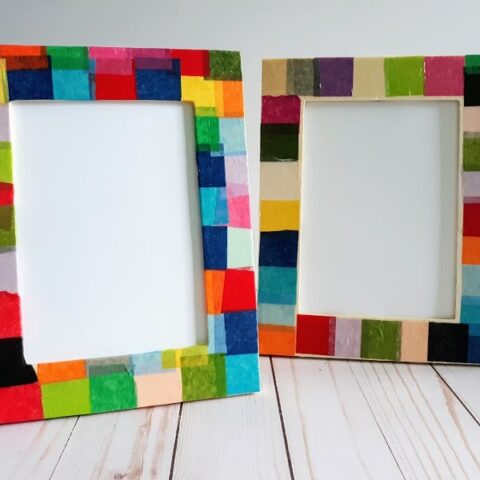 Tissue Paper Picture Frame Craft