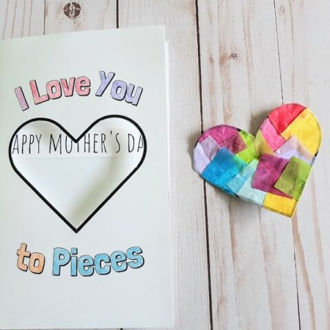Printable I Love You To Pieces Card Craft