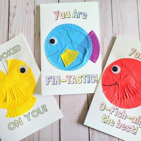 Printable Fish Cupcake Liner Card Craft