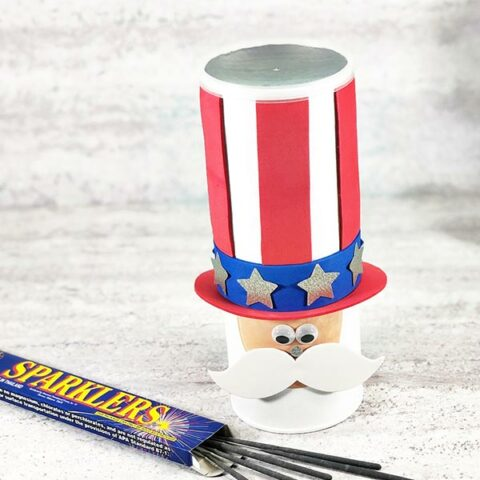 Uncle Sam Chip Can Craft