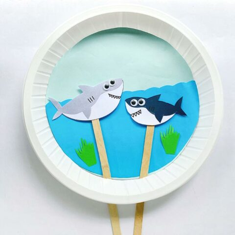 Moving Shark Paper Plate Craft